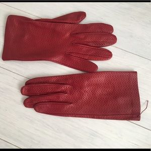 Accessories - Italian leather red 8 gloves